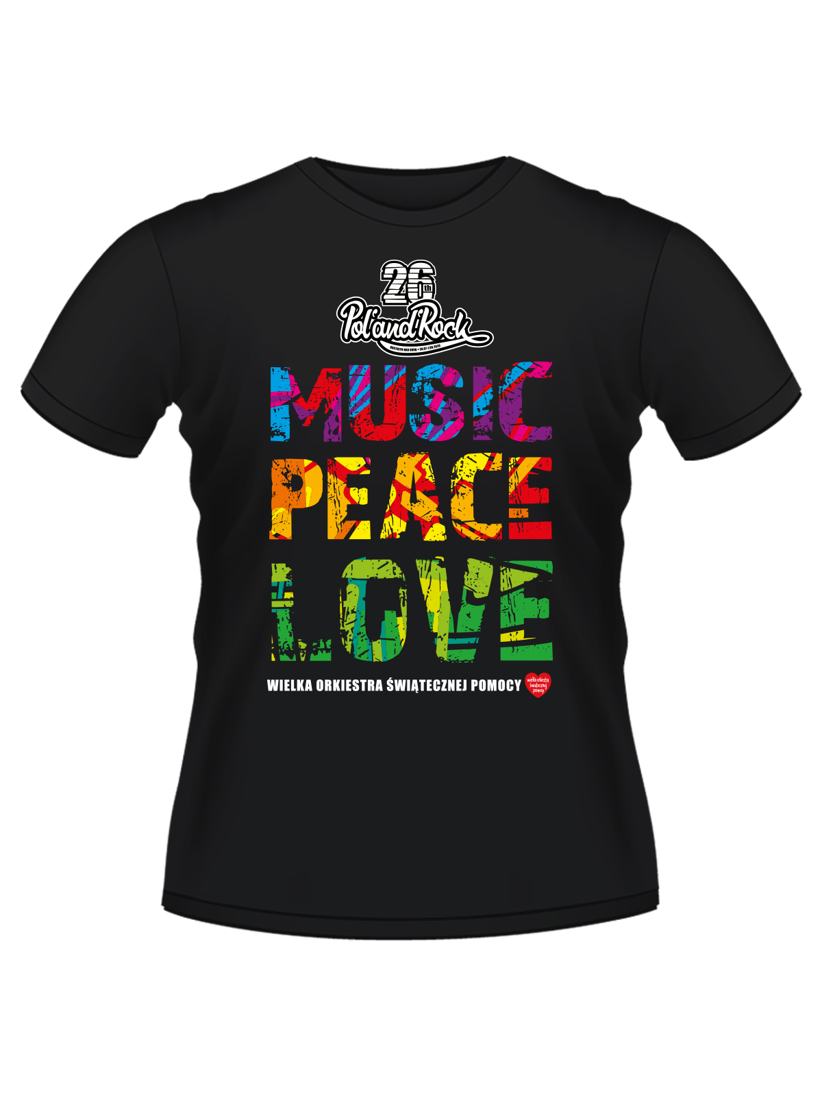 T-shirt męski - Music Peace Love