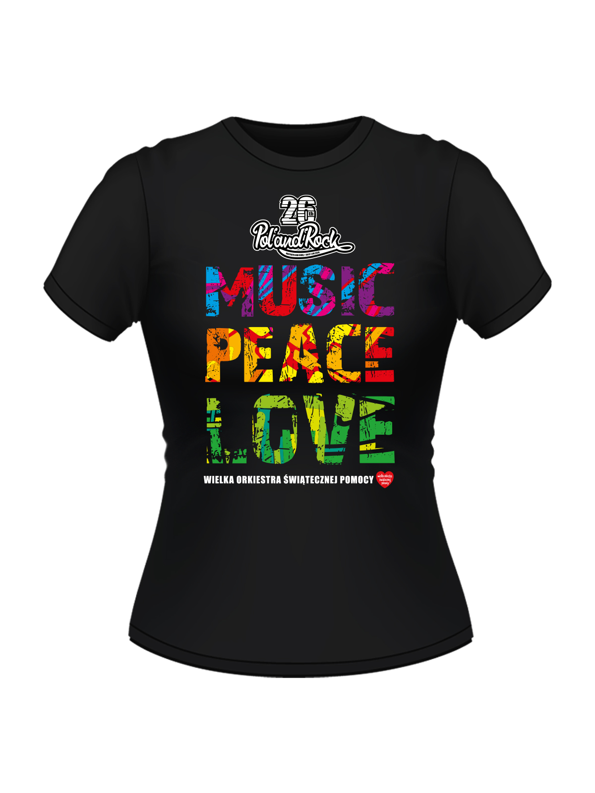 T-shirt damski - Music Peace Love